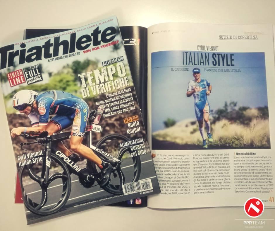 Cyril Viennot sulla copertina di Triathlete!